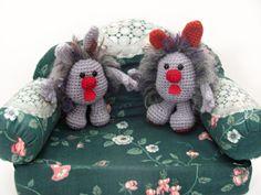 Crochet Dust Bunnies - #Amigurumi Dust Bunny Free Pattern  Copyright 2012 Author: Sharon Ojala - Amigurumi To Go, All rights reserved
