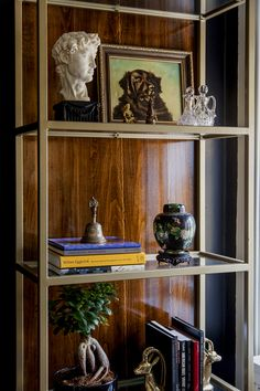 Gold and Wood Etagere- Design Manifest