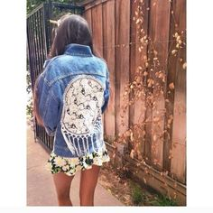 LF dream catcher denim jacket Furst of a kind collection. One size. No trades LF Jeans