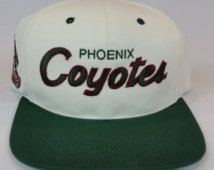 d69cab5a1 Phoenix Coyotes Vintage Snapback Starter Sports Specialties Logo Athletic  The Game Logo7 Pro Line Sharktooth Splash