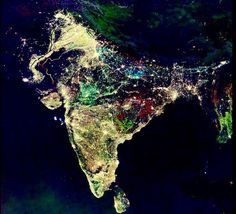 India from space during their festival of lights #india #space