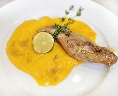 Denné menu Vranov | Králičie stehno s karamelovou zálievkou, mrkvovým pyré, zdobené limetkou - reštaurácia Hotel Patriot*** #hotel #restauracia #dennemenu