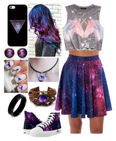 """""""galaxy"""" by a-girl-has-no-username ❤ liked on Polyvore featuring West Coast Jewelry, Forever 21 and Casetify"""