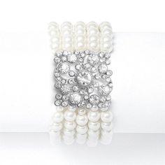 Vintage Ivory Pearl Stretch Bracelet