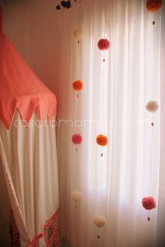 65 Ideas baby decor room pom poms for 2019 Girls Bedroom, Girl Room, Baby Room Decor, Bedroom Decor, Diy Casa, Curtain Designs, Diy Curtains, New Room, Diy Home Decor