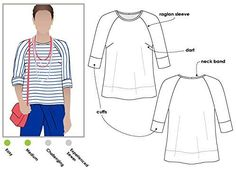 Style Arc Sewing Pattern - Click for Other Sizes Available Sizes 04-16 Kylie Knit Top