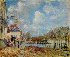 The Flood at Port Marly, 1876, Alfred Sisley.  I reproduced this one in pastels for my master's thesis.