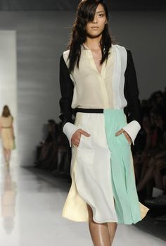 love the color blocking and flowy-ness, but the lengths a little too long..