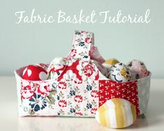 Fabric Basket and Eg