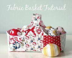 Fabric Basket and Eg
