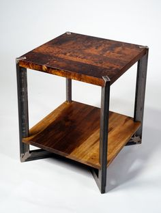 Table reclaimed wood and metal industrial modern