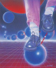Azman Yusof.  1987  Via: @chromeandlightning Vaporwave, 1980s Art, Retro Images, Retro Futuristic, Airbrush Art, Hippie Art, Retro Aesthetic, Retro Art, Psychedelic Art