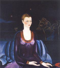 Frida Kahlo, portrait of Alicia Galant, art, painting, 1927.