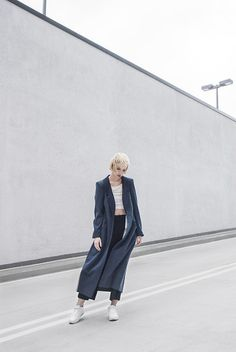 Get this look: http://lb.nu/look/7932106 More looks by Ruby Fridays: http://lb.nu/rubyfridays Items in this look: Joanna Jachowicz Coat, H&M Top, Nike Sneakers #classic #minimal #sporty