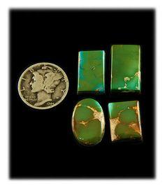 Royston Turquoise Gemstone Cabochons