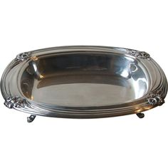 1847 Rogers Bros 1950 Daffodil Silverplate 9914 Footed Vegetable Serving Bowl IS
