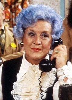 The one-off special is set in 1988 and picks up where the comedy last left off, following the misadventures of the retail staff in a fictional department store. Pictured: Mollie Sugden as Mrs Slocombe in the original