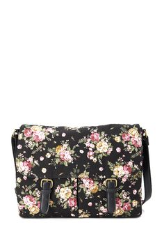 Floral Canvas Messenger Bag #Accessories