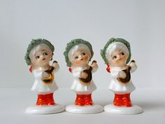 Vintage Napco Christmas Figurines Bone