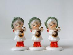 Vintage Napco Christmas Figurines Bone