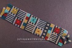 Herringbone Stitch, Brick Stitch, Seed Bead Patterns, Beading Patterns, Julie Powell, Beaded Jewelry Designs, Bead Jewelry, Native American Patterns, Bead Loom Bracelets