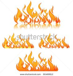 Gallery For > Fire Flames Designs