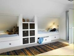 Beauteous Attic bedroom insulation,Attic bedroom with dormers and Attic renovation bedroom. Attic Bedroom Designs, Attic Bedrooms, Upstairs Bedroom, Attic Design, Attic Bathroom, Loft Room, Bedroom Loft, Kids Bedroom, Eaves Storage