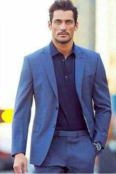 Luxury & Vintage Madrid offers you the best selection of contemporary and classic clothing in the world. David Gandy Style, David James Gandy, Mode Masculine, Classic Fashion Looks, Suit Fashion, Mens Fashion, Street Fashion, Famous Male Models, Androgynous Models