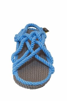 159d50873a62 Revel in the bright tones of the 80s with our JC rope sandal in gray and