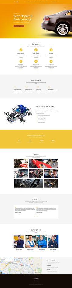 Truck Fix Premium Moto CMS 3 Template #59463