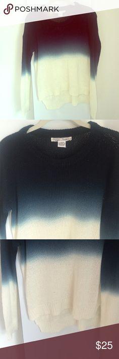 Ombré Sweater Sans Souci Navy to white ombré sweater. 100% acrylic. Size M. Sorry no trades! Make me an offer :) Sans Souci Sweaters Crew & Scoop Necks
