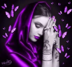 Purple Baby, Purple Love, All Things Purple, Shades Of Purple, Deep Purple, Pink Purple, Splash Photography, Digital Art Girl, Purple Aesthetic