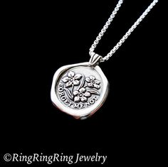 Forget-Me-Not necklace Sterling Silver jewelry by RingRingRing