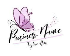 DIGITAL Custom Logo design, butterfly logo, flower wreath with butterfly logo, pink gold wreath logo design, pink butterfly logo flowers Circle Logo Design, Badge Design, Custom Logo Design, Custom Logos, Butterfly Cupcakes, Butterfly Logo, Floral Logo, Logo Pink, Boutique Names