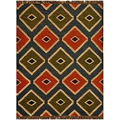 Hand-woven Wool/ Jute Kilim Rug. Just ordered for the new store shoe section! Got the last one at a steal!!! Super cheap with my O Mail coupon