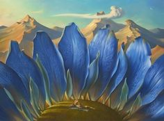 A TRAVERS LES MONTAGNES - Artiste Vladimir Kush