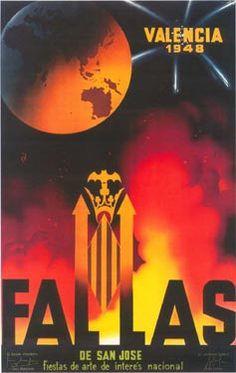 Cartel Fallas Valencia año 1948