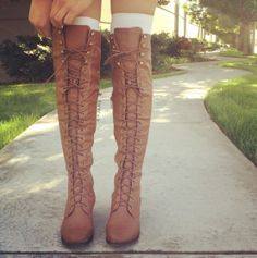 Wing Tip Knee-High Boots. Used to have theses from my mom in the 70's but they fell apart
