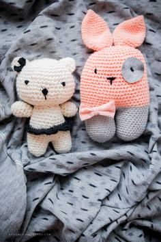 Crocheted amigurumi animals | free pattern | nohomewithoutyou