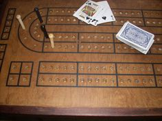 Cribbage Board Table with Accent Border by TheRightJack on Etsy, $300.00