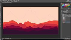 Photoshop Tutorial - How To Make Flat Landscape - Fire Watch