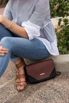 R. Riveter Signature Patton in black canvas and brown leather. My go-to every day bag. #bagsonamission