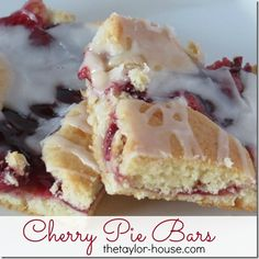 Do you love Cherry Pie? These Cherry Pie Bars are going to be a new favorite! They are easy to make and have a delicious almond glaze on top!