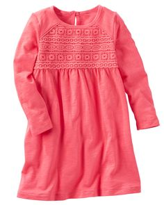 Toddler Girl Heather Lace Dress from OshKosh B'gosh. Shop clothing & accessories from a trusted name in kids, toddlers, and baby clothes.