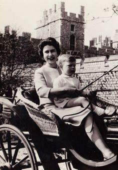 .Queen Elizabeth II and Prince Andrew