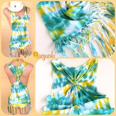 Tie Dye Tshirt Beach Tie Dye Tank Top Dyed Shirt Sexy by Sunjunki, $30.00