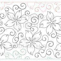continous swirls & flowers