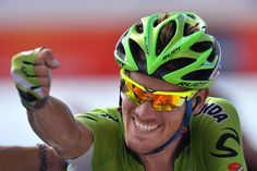 Gallery: 2014 Vuelta a Espana, stage 7 - De Marchi was ecstatic with his first grand tour stage victory. Photo: Tim De Waele | TDWsport.com.