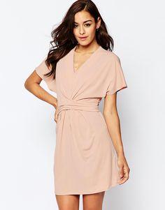 ASOS+Wrap+Dress+In+Crepe