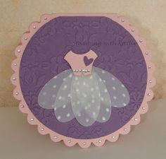 Cute ballerina outfit using oval dies - girl birthday card